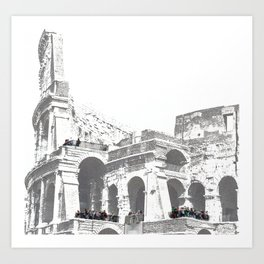 Tourists on the Coliseum Art Print