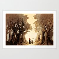 greg guillemin Art Prints featuring Wirt, Greg, and Beatrice by Sidaneigh