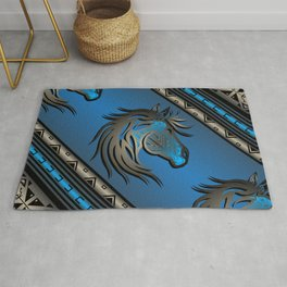 Horse Nation (Blue) Rug