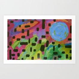 """Blue-Moon"" Art Print"