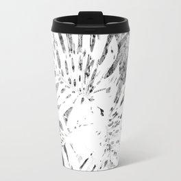 Palm Leaves Abstract Black & White Travel Mug