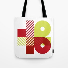 Rotation Alphabet 'B' On White Tote Bag