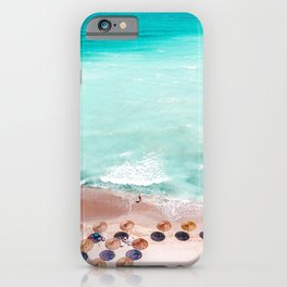 Ocean Print, Beach Print, Wall Decor, Aerial Beach Print, Beach Photography, Blue Sea Art Print iPhone Case