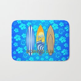 Born To Surf Hawaiian Bath Mat