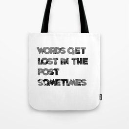 words. Tote Bag