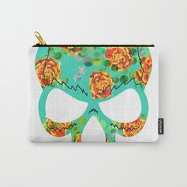 Mexican floreal skull Carry-All Pouch