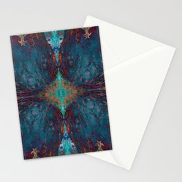Blue angel geometry Stationery Cards