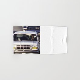 OJ Simpson Car Chase Hand & Bath Towel