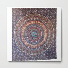Indian Wall Hanging Bedsheet Metal Print