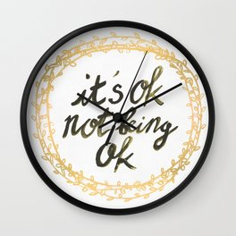 It's ok not being ok Wall Clock