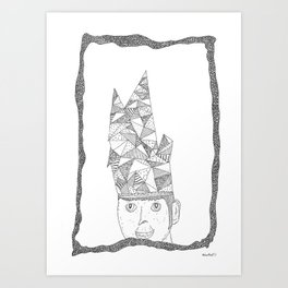 hat of triangles Art Print