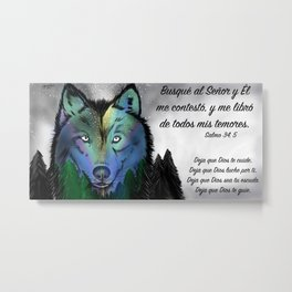 Lobo - Salmo 34, 5 Metal Print