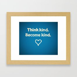 kindness series Framed Art Print