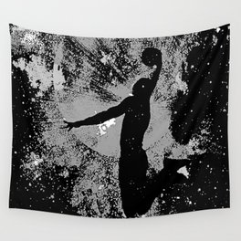 SLAM DUNK IN BLACK AND WHITE Wall Tapestry