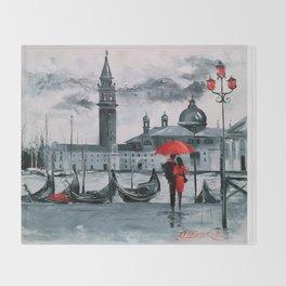 Romantic Venice Throw Blanket