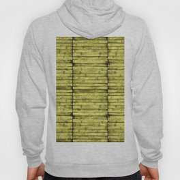 Lemon Yellow Wood Pattern Hoody