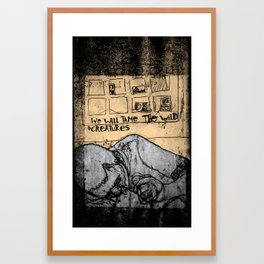 To tame the wild creatures Framed Art Print