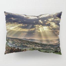Landscape photograph of, Sunshine over Hope valley, Peak District, U.K. Pillow Sham