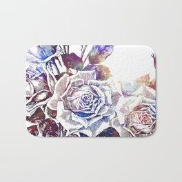 Rose Bloom Nebula Bath Mat