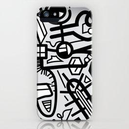 Inner Ticking Series - Black iPhone Case