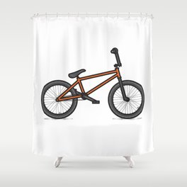 #17 BMX Shower Curtain