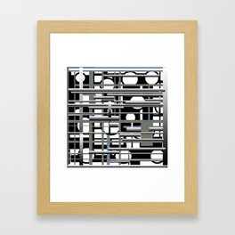 Black white and grey Framed Art Print