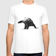 The Big Bad Bear by Chuchuligoff Mens Fitted Tee White MEDIUM