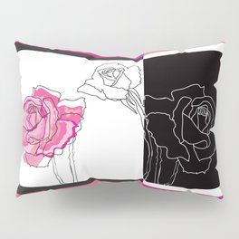 Roses - positive and negative Pillow Sham