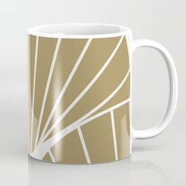 Diamond Series Round Sun Burst White on Gold Coffee Mug