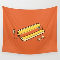 cooking Wall Tapestries featuring Cooking Up A Tan by David Soames