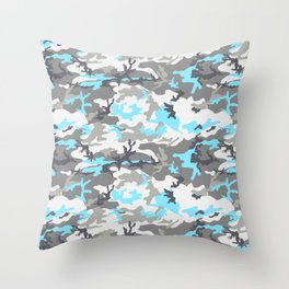 coldcamo Throw Pillow