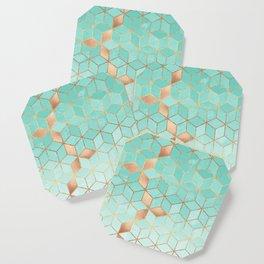 Soft Gradient Aquamarine Coaster