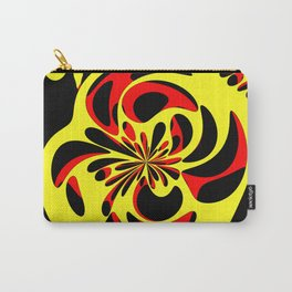 Yellow red and black Carry-All Pouch
