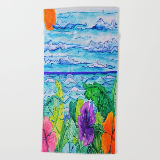 Lanai View Beach Towel