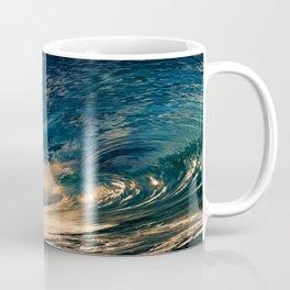 Beach - Waves - Ocean - Sun - Clouds - Blues - Sundown Coffee Mug