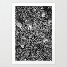 Alien Collective B & W Art Print