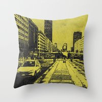 milan Throw Pillows featuring Milan 2 by Anand Brai