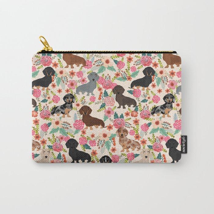 Dachshund floral dog breed pet patterns doxie dachsie gifts must haves Tasche