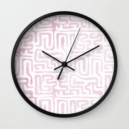 Lavender Geometric Path • Lilac Pattern • Abstract Modernist Art •Modern Graphic Designer Style Wall Clock
