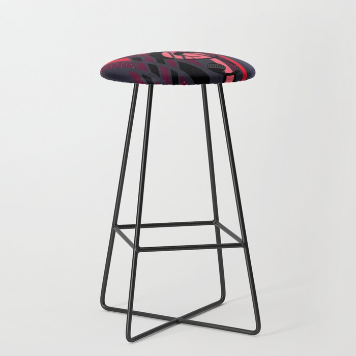 Lively Musical Dimensions Bar Stool By Melissajbarrett Society6