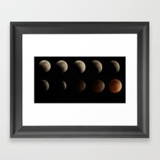 Lunar Eclipse 2014 Framed Art Print