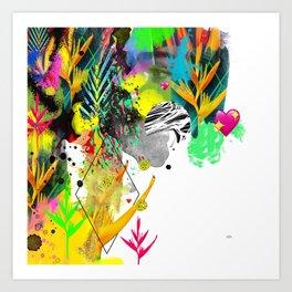 AltErEd tExtUrE Art Print