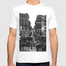 Rain in Rome Mens Fitted Tee MEDIUM White