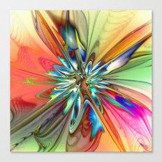 Splendid Fractal Flower 4 Canvas Print