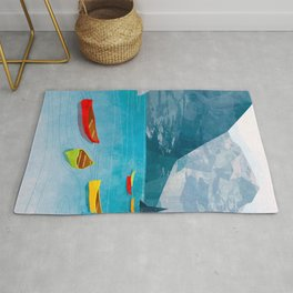 Canadian Canoes Rug