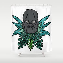 Gorilla in the Jungle[Multicolored] Shower Curtain
