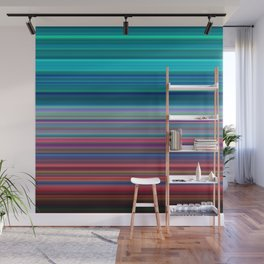 Blurry Saturn Stripes Wall Mural