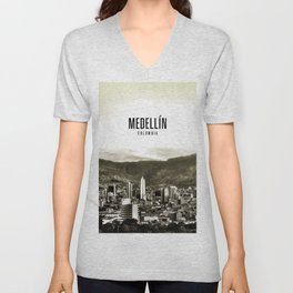 Medellin Colombia Wallpaper Unisex V-Neck