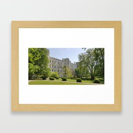 white castle Framed Art Print