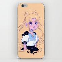 sailor moon iPhone & iPod Skins featuring Sailor Moon by Natali Koromoto